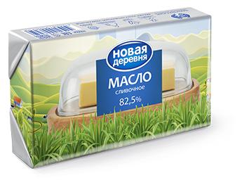 Новая деревня Масло сливочное 82.5%, 180 г