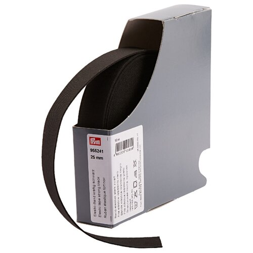 Купить Prym Прочная эластичная лента (955241), черный 2.5 см х 10 м, Технические ленты и тесьма