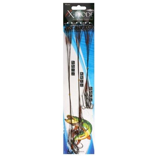 Рыболовный поводок MIKADO X-Plode ZG11-012 30 шт. 10 кг