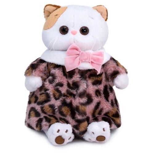 Купить Мягкая игрушка Basik&Co Кошка Ли-Ли в леопардовой шубке 24 см, Мягкие игрушки