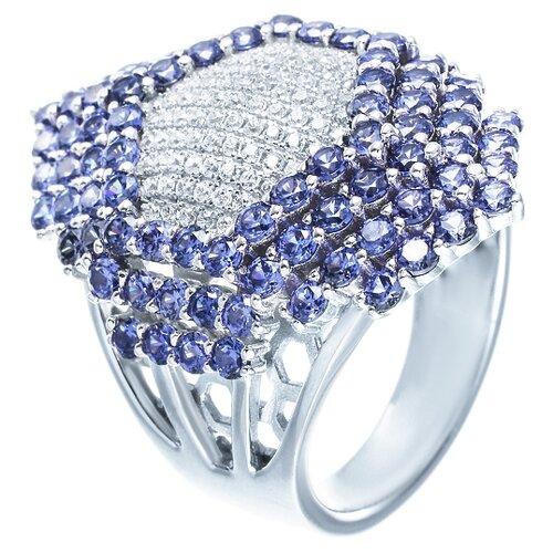 ELEMENT47 Кольцо из серебра 925 пробы с кубическим цирконием OL01222B_KO_001_WG, размер 17.75