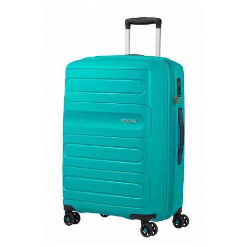 Чемодан American Tourister Sunside M 83.5 л, aero turquoise