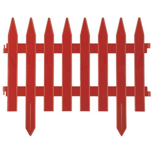 Забор декоративный GRINDA Классика, терракот, 3 х 0.28 м
