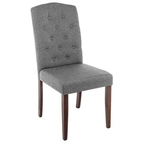 Стул Woodville Menson, дерево/текстиль, цвет: dark walnut/fabric grey стул woodville amelia дерево текстиль цвет white fabric grey