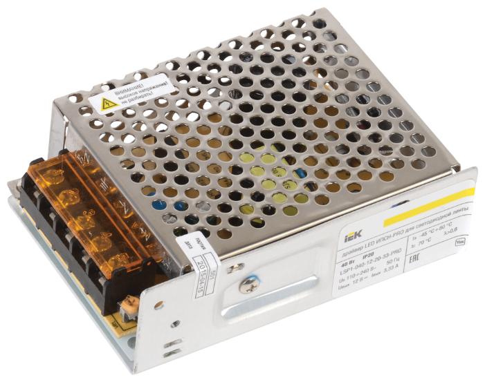 Блок питания для LED IEK LSP1-040-12-20-33-PRO 40 Вт