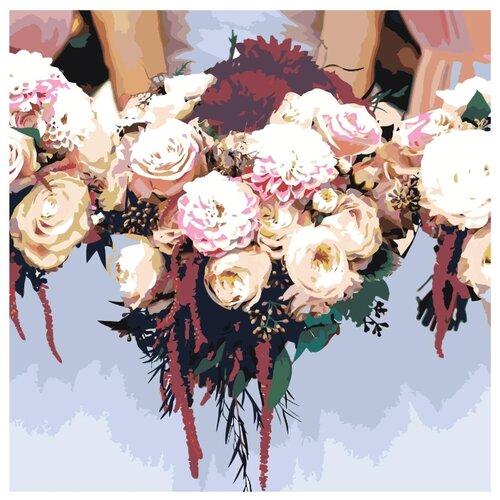 закат в морской бухте раскраска картина по номерам на холсте ets258 4040 40х40 Цветочный букет невесты Раскраска картина по номерам на холсте ETS301v2-4040 40х40