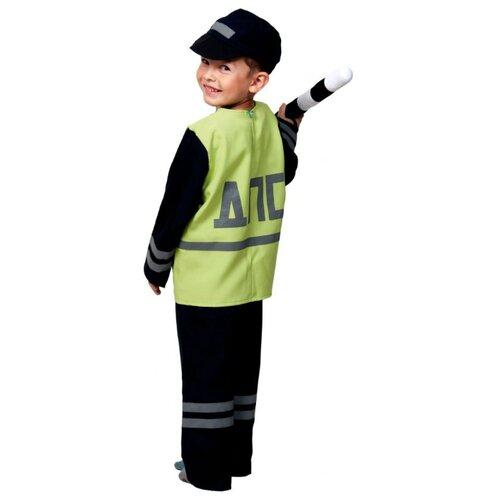 Купить Костюм КарнавалOFF Профессии Полицейский ДПС (5132), зеленый/черный, размер 134-140, Карнавальные костюмы