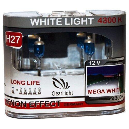 цена на Лампа автомобильная галогенная ClearLight WhiteLight MLH27WL H27 55W 2 шт.