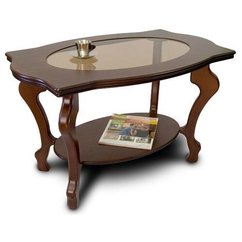 Фото - Столик журнальный Мебелик Берже 1С, ДхШ: 94 х 60 см, темно-коричневый подставка мебелик берже 14 темно коричневый