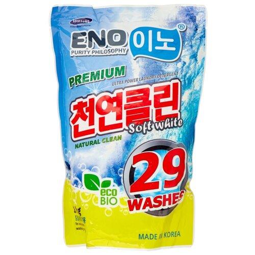 Стиральный порошок ENO Soft white пластиковый пакет 1 кг