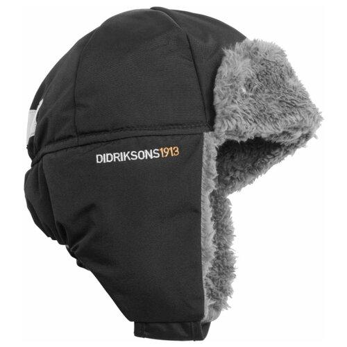 Купить Шапка-ушанка Didriksons размер 52, черный, Головные уборы
