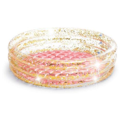 Детский бассейн Intex Glitter 57103 розовый детский бассейн intex океан 56452