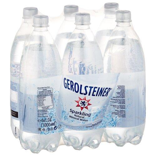 Вода минеральная Gerolsteiner газированная, ПЭТ, 6 шт. по 1 л вода минеральная калинов родник газированная пэт 6 шт по 1 5 л