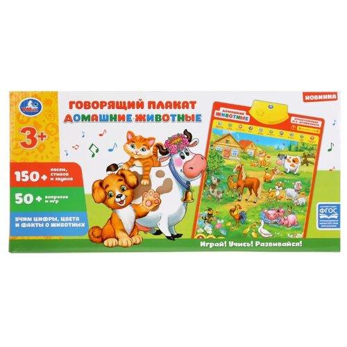 Электронный плакат Умка Дружинина домашние животные HX0251-R28 разноцветный электронный звуковой плакат знаток весёлый зоопарк pl 06 zoo