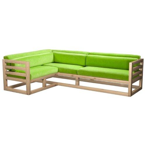 Угловой диван AnderSon Магнус угол: слева, размер: 250х170 см, обивка: ткань, сосна/салатовый диван угловой диван магнус магнус