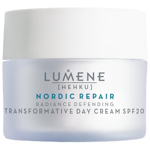 Lumene Hehku Nordic Repair Radiance Defending Transformative Day Cream Восстанавливающий дневной крем-уход для лица SPF 20, возвращающий сияние, 50 мл крем lumene kirkas radiance boosting cleansing cream 150 мл