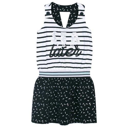 Купить Сарафан COCCODRILLO ALOHA размер 134, черно-белый, Платья и сарафаны