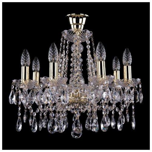Люстра Bohemia Ivele Crystal 1413/8/165/G/Tube, E14, 320 Вт