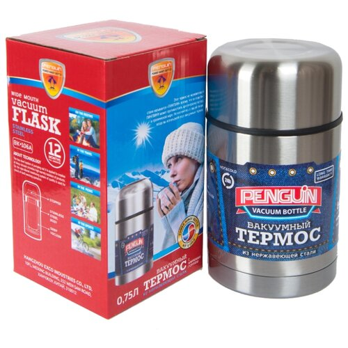 Термос для еды Penguin ВК-106А (0,75 л) серебристый термос для еды penguin bk 100 0 75 л стальной