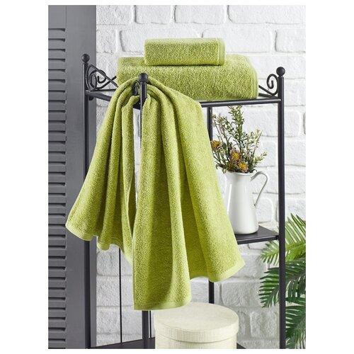 Полотенце махровое Karna. Efor, 70х140 см, цвет зеленый