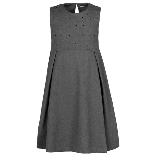Купить Сарафан Gulliver размер 158, серый меланж, Платья и сарафаны
