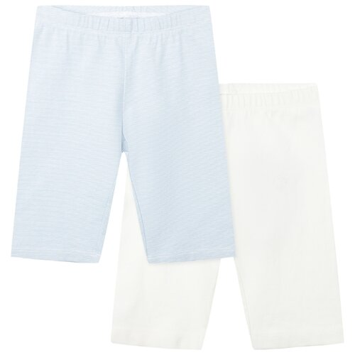 Бриджи playToday размер 98, белый/голубой