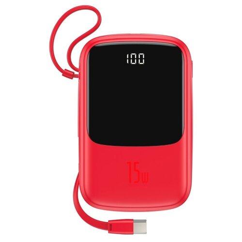 Аккумулятор Baseus QPow Type-C Cable 10000mAh, красный аккумулятор baseus mini s type c cable 10000mah черный