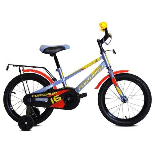 Детский велосипед FORWARD Meteor 16 (2020) серый/желтый (требует финальной сборки)