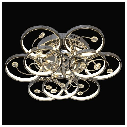 Люстра светодиодная Максисвет 1-1708-9-CR Y LED, LED, 90 Вт максисвет потолочная люстра максисвет simple еврокаркасы 1 2108 5 cr dwe e14