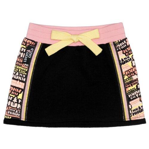 Купить Юбка lucky child размер 26 (80-86), черный, Платья и юбки