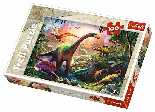 Пазл Trefl Мир динозавров (16277), 100 дет.