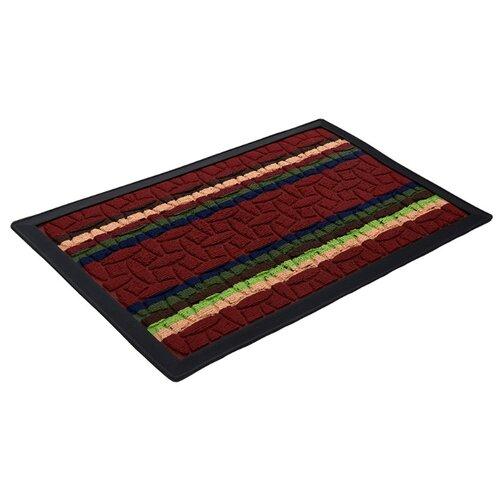 Коврик придверный Comfort, 40х60 см, красный коврик vortex придверный comfort d 65см круглый