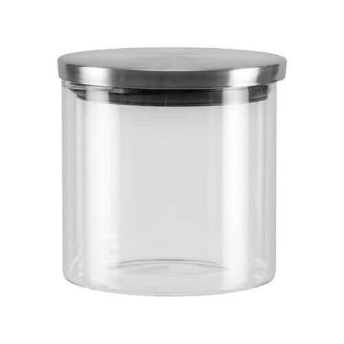 Фото - Nadoba Банка для сыпучих продуктов Silvana 0.45 л прозрачный/серебристый банка для сыпучих продуктов nadoba 741111