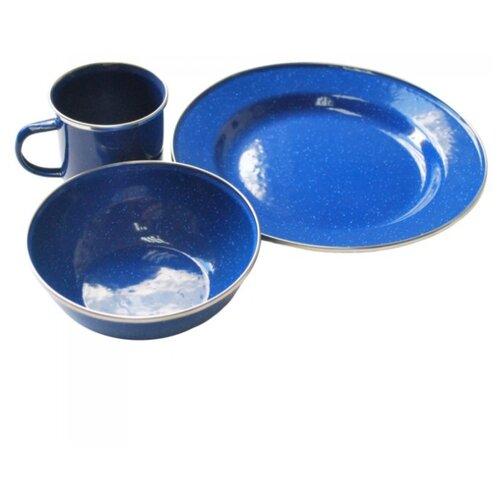 Набор туристической посуды Tramp TRC-074, 3 шт. синий