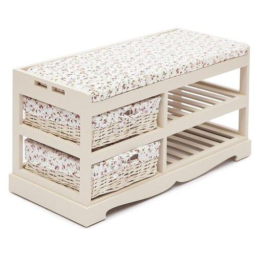Обувница TetChair Secret De Maison Echoppe TET-9742 , размер (ШхГ): 80х35 см , цвет: butter white