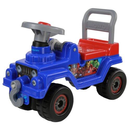 Купить Каталка-толокар Molto Джип Мстители (70661) синий/красный, Каталки и качалки