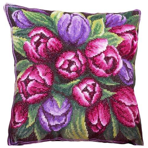 Купить PANNA Набор для вышивания Подушка с тюльпанами 30 х 30 см (PD-1548), Наборы для вышивания