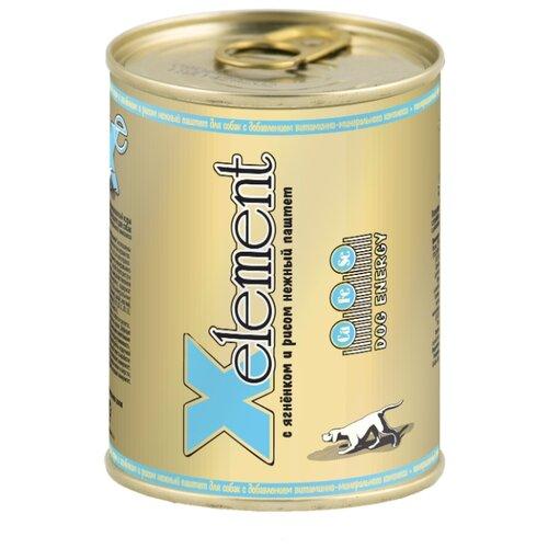 Влажный корм для собак X-Element ягненок с рисом 340г