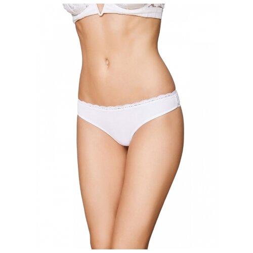 Sisi Трусы бразильяна с низкой посадкой, размер XS(42), bianco платье oodji ultra цвет красный белый 14001071 13 46148 4512s размер xs 42 170