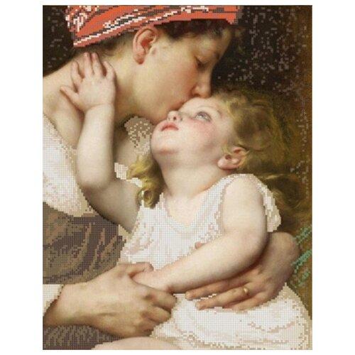 Купить Материнская нежность (рис. на сатене 29х39) 29х39 Конек 1288, Конёк, Канва
