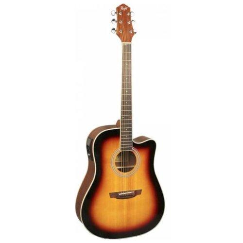 Электроакустическая гитара Flight AD-200 CEQ 3TS гитара электроакустическая enya em x1eq