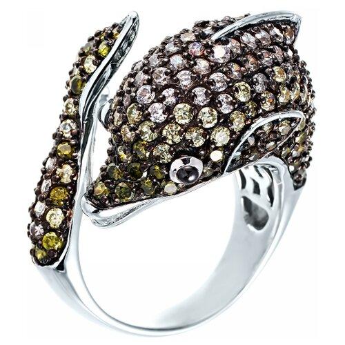 Фото - JV Серебряное кольцо с кубическим цирконием R070535S-KO-001-WG, размер 18 jv серебряное кольцо с кубическим цирконием dm0026r ko 001 wg размер 18