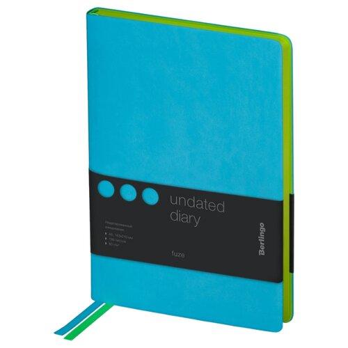Купить Ежедневник Berlingo Fuze недатированный, искусственная кожа, А5, 136 листов, бирюзовый, Ежедневники, записные книжки
