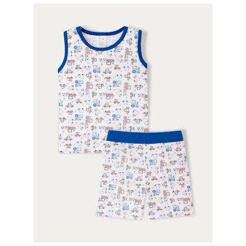 Пижама KotMarKot размер 92, белый/синий