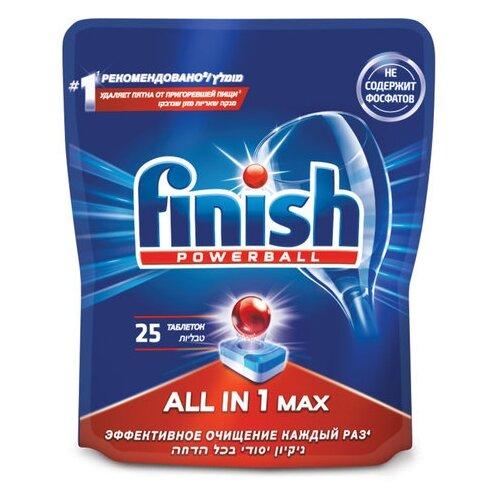 Finish All in 1 Max таблетки (original) для посудомоечной машины, 25 шт.
