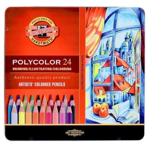 Купить KOH-I-NOOR Карандаши цветные Polycolor, 24 цвета (3824024002PL), Цветные карандаши