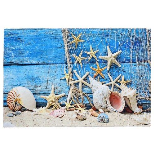 Фото - Коврик Доляна Морские звезды 80х120 см синий коврик велий честер серый 80х120