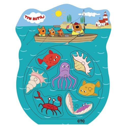 Рыбалка Буратино Три кота - Ловись рыбка! голубой по цене 250