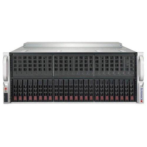 Сервер Supermicro SuperServer 4029GP-TRT2 без процессора/без ОЗУ/без накопителей/количество отсеков 2.5 hot swap: 24/4 x 2000 Вт/LAN 10 Гбит/c сервер supermicro superserver 5019s wr без процессора без озу без накопителей количество отсеков 3 5 hot swap 4 2 x 500 вт