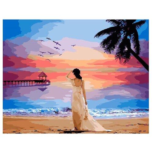 Купить ВанГогВоМне Картина по номерам Девушка на закате , 40х50 см (ZX 21724), Картины по номерам и контурам